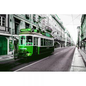 TM2321 tram in street green