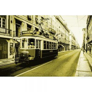 TM2323 tram on street green