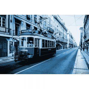TM2324 tram on street blue