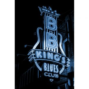 TM2403 bb kings club neon sign blue