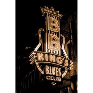 TM2404 bb kings club neon sign sepia