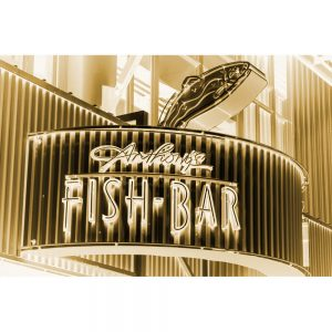 TM2412 fish bar neon sign blue invert