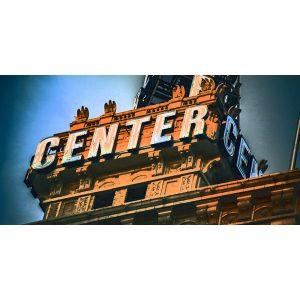 TM2417 center centre neon sign orange