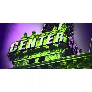 TM2418 center centre neon sign green