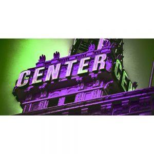 TM2420 center centre neon sign purple