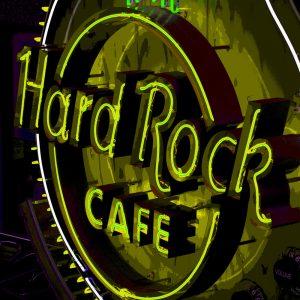 TM2422 hard rock cafe neon sign green