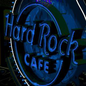 TM2423 hard rock cafe neon sign blue