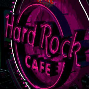 TM2424 hard rock cafe neon sign magenta