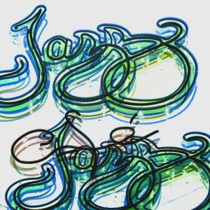 TM2426 jazz bar neon sign orange invert