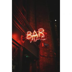 TM2429 bar neon sign red