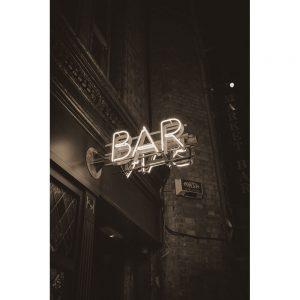 TM2431 bar neon sign sepia