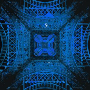 TM2652 eifel tower paris blue
