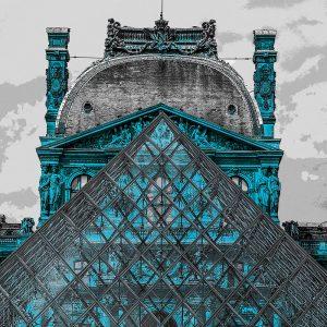 TM2672 louvre museum paris turquoise