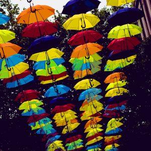 TM2779 liverpool street umbrellas