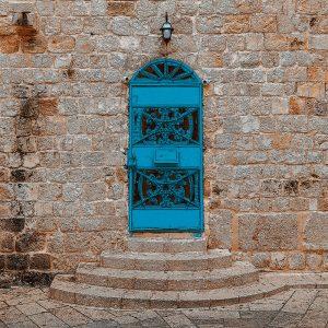 TM2801 ornate blue door