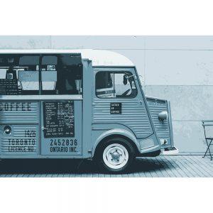 TM2812 retro coffee van light blue
