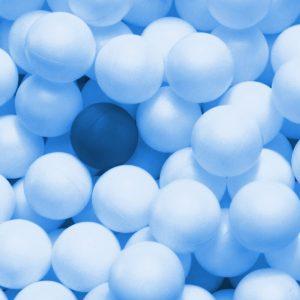 TM2819 ping pong balls bright blue