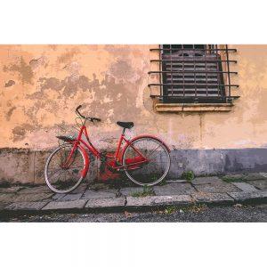 TM2855 retro bicycle bike old building red