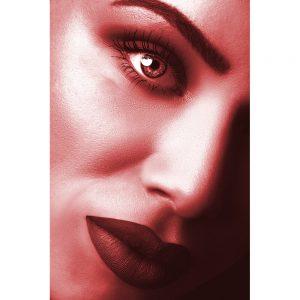 TM2881 model lips woman bright red