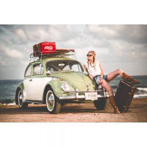 TM2901 beetle beach girl surfing green