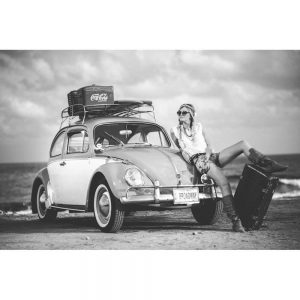 TM2902 beetle beach girl surfing mono