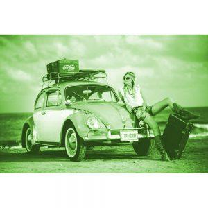 TM2903 beetle beach girl surfing bright green