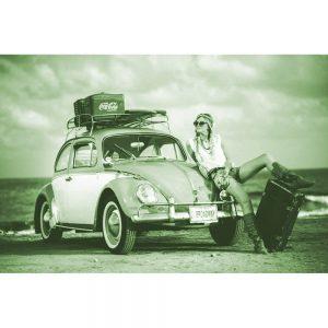 TM2904 beetle beach girl surfing light green