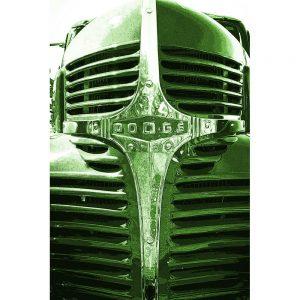 TM2927 dodge retro truck grill bight green
