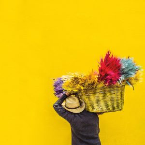 TM2967 man carrying yellow basket