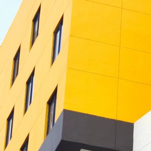 TM2978 yellow modern building detail