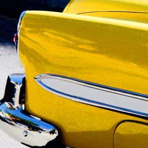 TM2982 yellow belair american car detail
