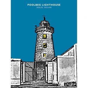 SG2594 poolbeg lighthouse dublin ireland bright city funky