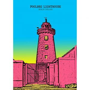SG2595 poolbeg lighthouse dublin ireland bright city funky