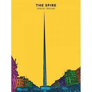 SG2599 spire dublin ireland bright funky