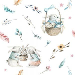 SG2679 rabbit boho image balloon basket seamless