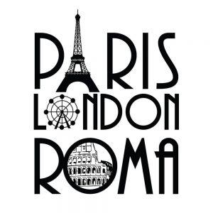 SG2743 paris london roma travel graphic