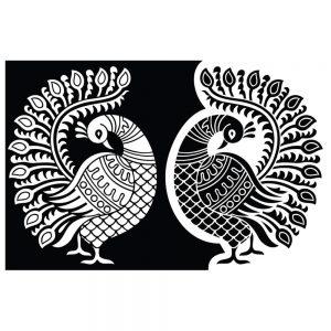 SG2746 peacock motif graphic