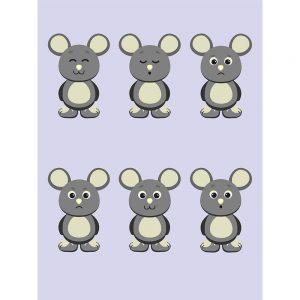 SG2765 mice mouse faces kids art