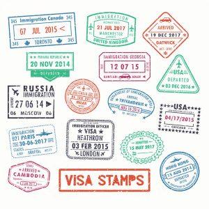 SG2766 visa passport stamps travel