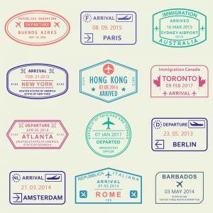 SG2782 visa passport stamps travel