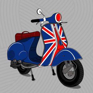 SG2788 retro scooter emblems transport