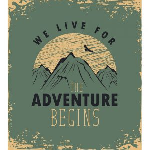 SG2790 travel banner mountains retro poster