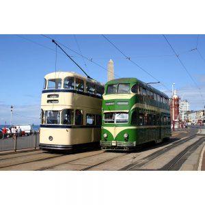 SG2878 blackpool trams promenade