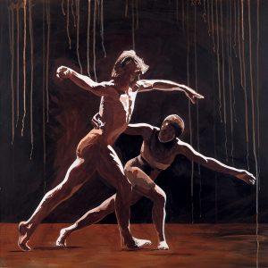 SG747 dancers couple partners figures man woman