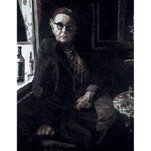 SG781 man figure portrait poet irish ireland