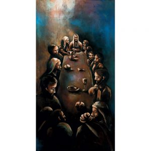 SG848 last supper men table abstract