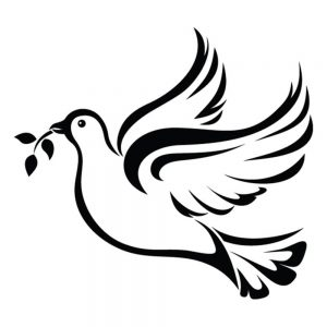 SG3105 peace dove olive branch keyline