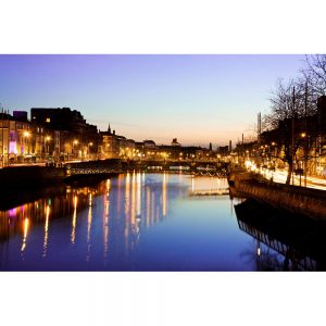 SG3185 dublin ireland sunset bridge river liffey