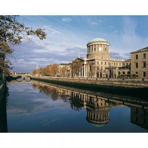SG3197 four courts building dublin ireland river liffey