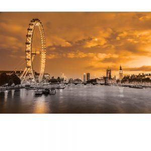 SG3832 london uk cityscape black white orange